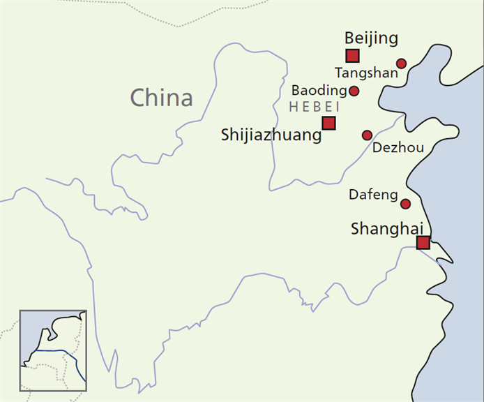 Map China trade mission