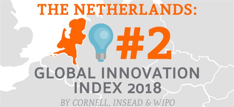 The Netherlands nr. 2 Global Innovation Index 2018